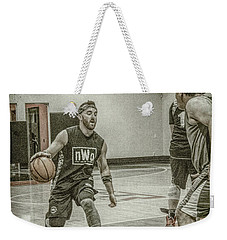 Weekender Tote Bag featuring the photograph I'm Going By You by Ronald Santini