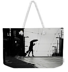 Weekender Tote Bag featuring the photograph Im Leaving But Never  by Empty Wall