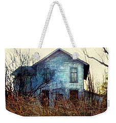 Weekender Tote Bag featuring the photograph I'm Not Home Right Now, Please Leave A Message - Abandoned Farmhouse by Janine Riley