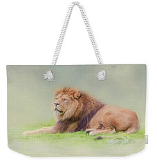 Weekender Tote Bag featuring the photograph I'm The King by Roy McPeak
