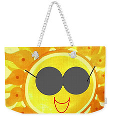 Weekender Tote Bag featuring the painting I'm Too Hot For My Shades by Denise Fulmer