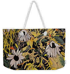 Weekender Tote Bag featuring the painting Image From Ernie Lane by Ron Richard Baviello