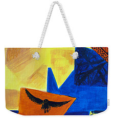Weekender Tote Bag featuring the painting Imagination by Maria Langgle