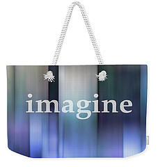 Weekender Tote Bag featuring the digital art Imagine In Blue by Ann Powell
