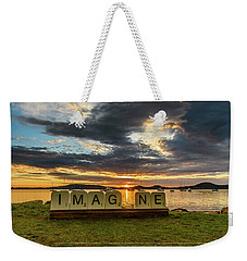 Imagine Sunrise Waterscape Over The Bay Weekender Tote Bag