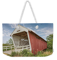Weekender Tote Bag featuring the photograph Imes Covered Bridge by Susan Rissi Tregoning