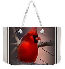 Img_3158-005 - Northern Cardinal Christmas Card Weekender Tote Bag