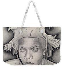 Immortalizing In Stone Jean Michel Basquiat Drawing Weekender Tote Bag
