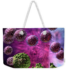 Weekender Tote Bag featuring the digital art Immune Response Cytotoxic 4 by Russell Kightley