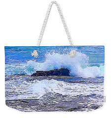 Ocean Impact In Abstract 1 Weekender Tote Bag