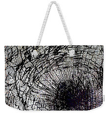 Weekender Tote Bag featuring the mixed media Impact by Tony Rubino