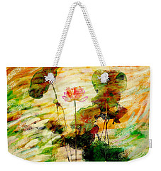 Impression In Lotus Tree Weekender Tote Bag