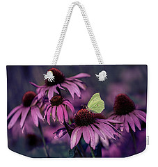 Impression With Purple Ehinacea Weekender Tote Bag