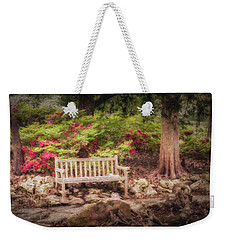 Weekender Tote Bag featuring the photograph Impressionist Bench by James Barber