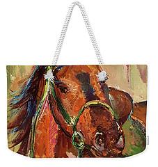 Impressionist Horse Weekender Tote Bag by Janet Garcia