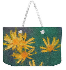 Impressionist Yellow Wildflowers Weekender Tote Bag