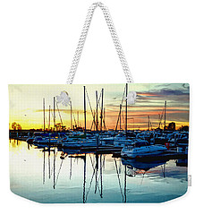 Weekender Tote Bag featuring the photograph Impressions Of A San Diego Marina by Glenn McCarthy Art and Photography