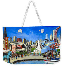 Impressions Of Chicago Weekender Tote Bag