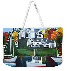 Impressions Of New England Two Weekender Tote Bag by Donna Blossom