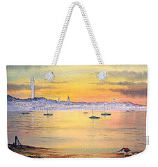 Weekender Tote Bag featuring the painting Impressions Of Provincetown by Bill Holkham