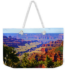 Weekender Tote Bag featuring the digital art Impressions Of The North Rim by Shelli Fitzpatrick