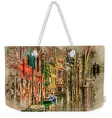 Weekender Tote Bag featuring the digital art Impressions Of Venice by Brian Tarr