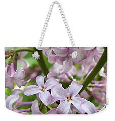 Sea Of Lilacs Weekender Tote Bag by Kathi Mirto