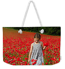 In A Sea Of Poppies Weekender Tote Bag