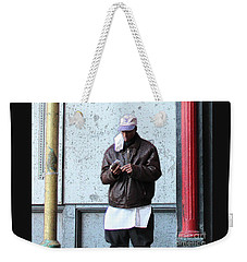 Weekender Tote Bag featuring the photograph In Between by Joe Jake Pratt