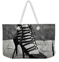 In Black Heels Weekender Tote Bag