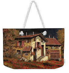 In Campagna La Sera Weekender Tote Bag by Guido Borelli