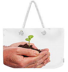 Weekender Tote Bag featuring the photograph In Care by Patricia Hofmeester