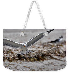 Weekender Tote Bag featuring the photograph In Coming by Melissa Lane