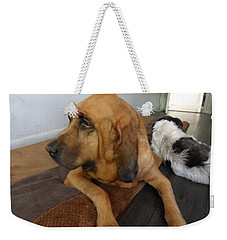 In Deep Thought Weekender Tote Bag by Val Oconnor