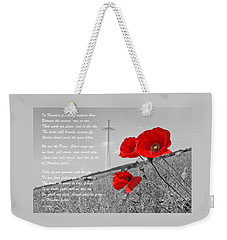 In Flanders Fields Weekender Tote Bag