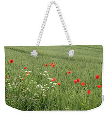 in Flanders Fields the  poppies blow Weekender Tote Bag
