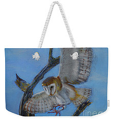 In Flight Barn Owl Weekender Tote Bag