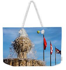 In Flight Over Flags Weekender Tote Bag