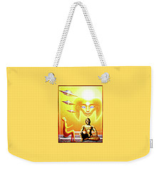 Weekender Tote Bag featuring the painting In Higher Dimensions by Hartmut Jager