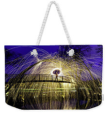In Honor Of Spacebound Weekender Tote Bag by Randy Scherkenbach
