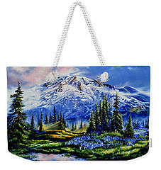 Weekender Tote Bag featuring the painting In Joyful Harmony by Hanne Lore Koehler