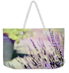 Weekender Tote Bag featuring the photograph In Love With Lavender by Kerri Farley