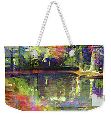 Weekender Tote Bag featuring the painting In Love With Patterns by Allison Ashton