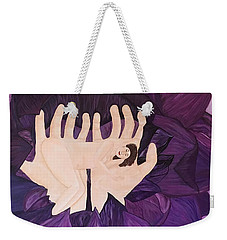 In Loving Hands Weekender Tote Bag by Cheryl Bailey