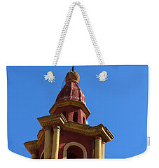 In Mexico Bell Tower Weekender Tote Bag by Cathy Anderson