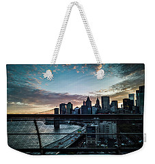 Weekender Tote Bag featuring the photograph In Motion by Johnny Lam