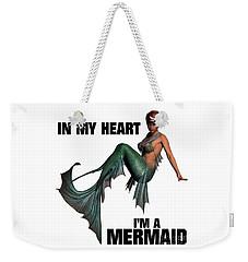 In My Heart I'm A Mermaid Weekender Tote Bag