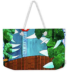 Weekender Tote Bag featuring the painting In My Room by Donna Howard