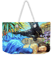 Weekender Tote Bag featuring the painting In One's Sleep by Dmitry Spiros