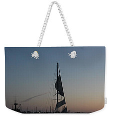 Weekender Tote Bag featuring the photograph In Tatters Original by Marie Neder